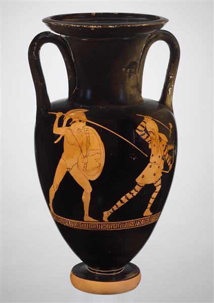 Terracotta Nolan Neck Amphora (jar), c.430 BC - Ancient Greek Pottery