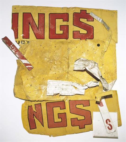 Yellow Moby Glut, 1986 - Robert Rauschenberg