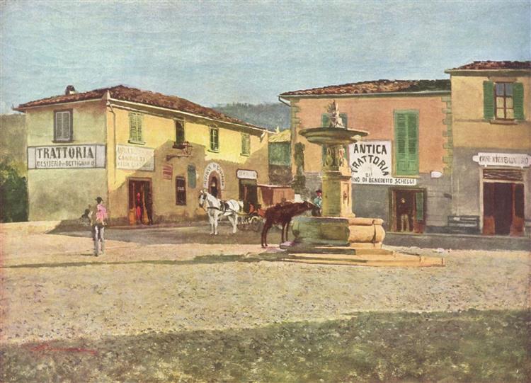 Piazzetta von Settignano - Telemaco Signorini