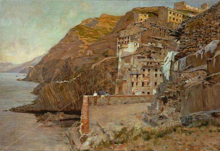 Riomaggiore Et Son Vignoble, 1894 - Telemaco Signorini
