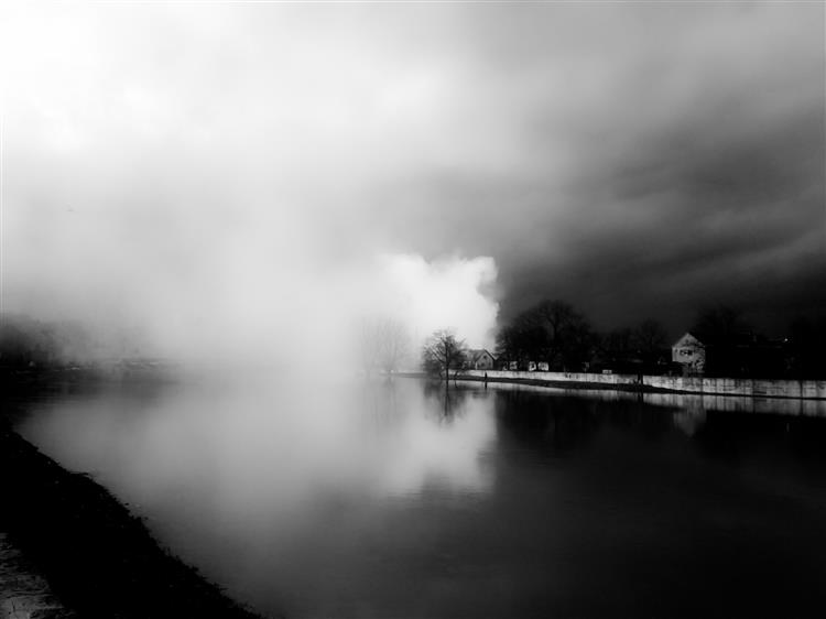Odd morning at the flooded Kupa river, 2013 - Alfred Krupa