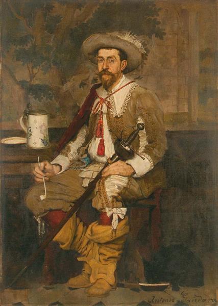 Robert Salis En Gentilhomme De L'époque Louis XIII, 1883 - Antonio de La Gándara