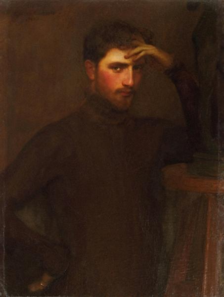 Portrait Carl Ernst Von Stetten, 1878 - Гюстав Куртуа