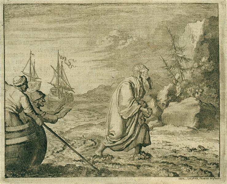 Evangelist John Exiled on Patmos, AD 97, 1684 - Jan Luyken
