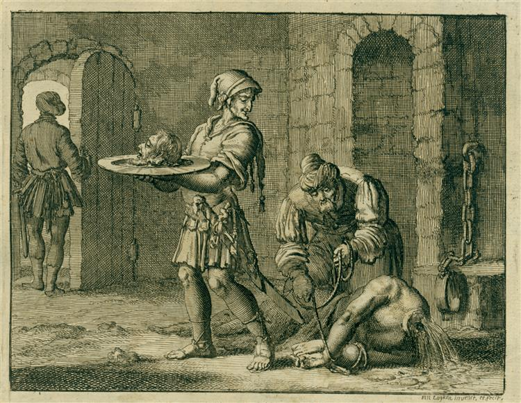 John the Baptist Beheaded, AD 23, 1685 - Jan Luyken