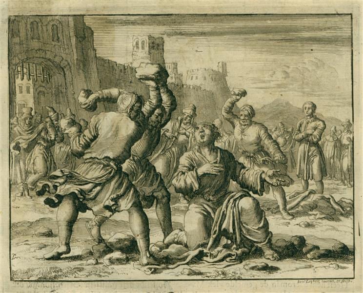 Stoning of Stephen, AD 34, 1685 - Jan Luyken