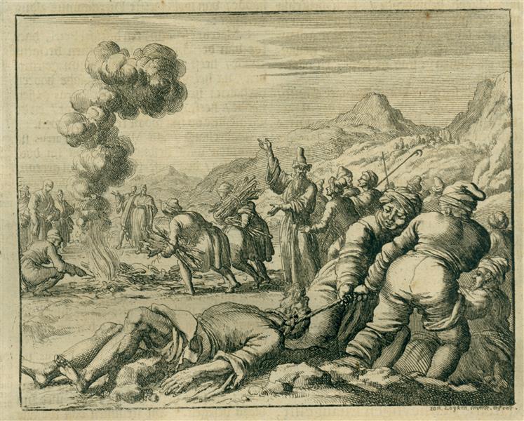 Burning of Barnabas at Salamanca, Cyprus, AD 64, 1685 - Jan Luyken