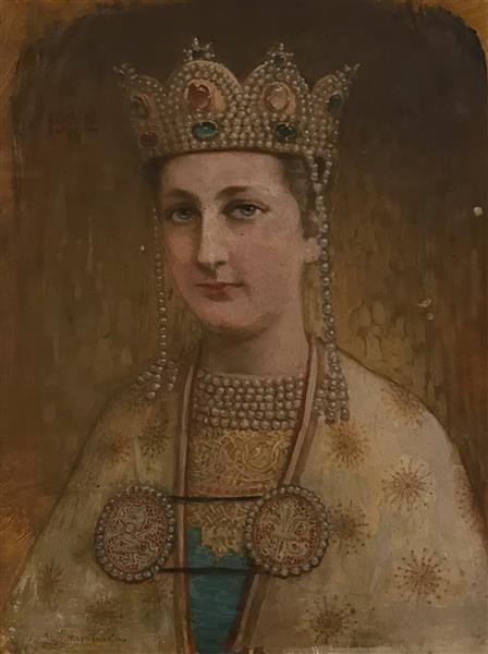 Portrait of Princess Evdokia - Ivan Mrkvička
