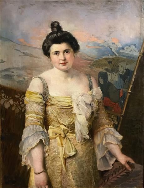 Portrait of a Lady in Yellow - Ivan Mrkvička