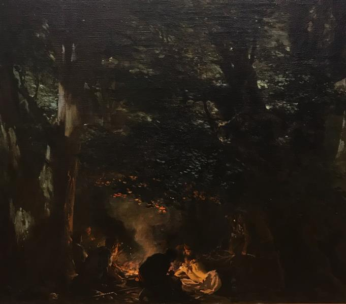 Haiduti in the Forest, 1898 - 1899 - Ivan Mrkvička