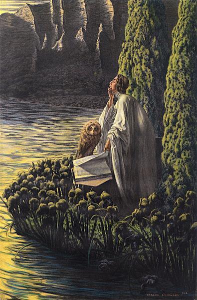 Interior Silence, 1908 - Carlos Schwabe