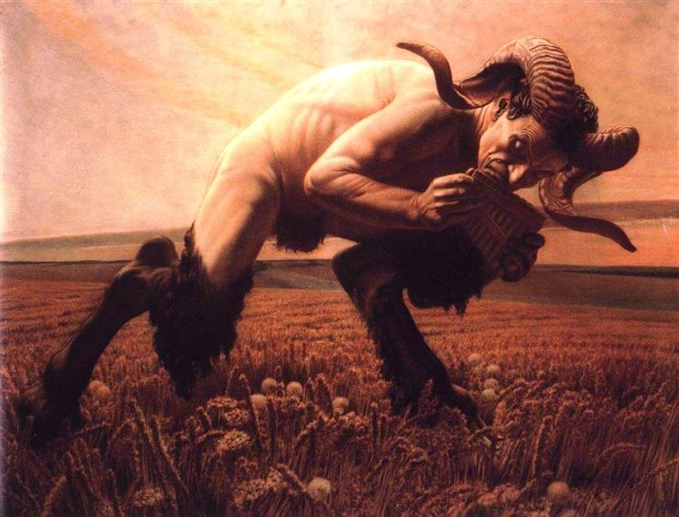 The Faun, 1923 - Carlos Schwabe