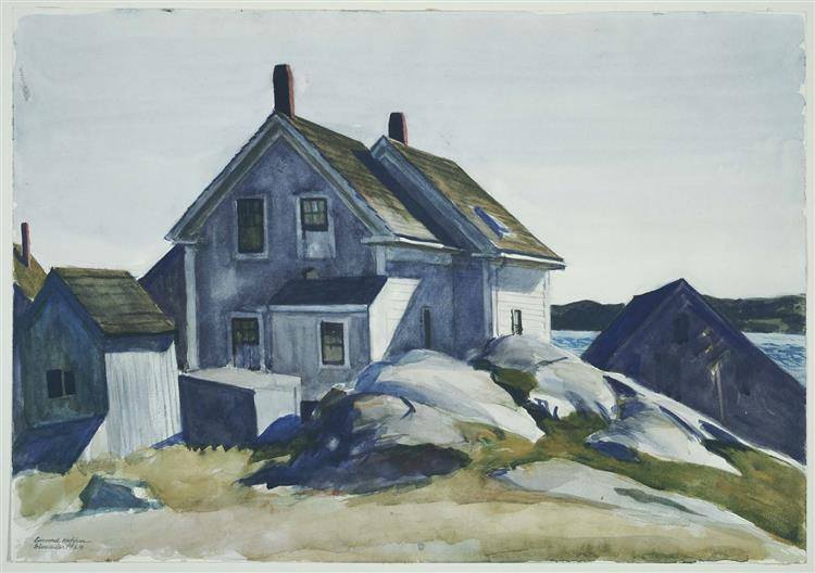 House at the Fort, Gloucester, 1924 - Edward Hopper