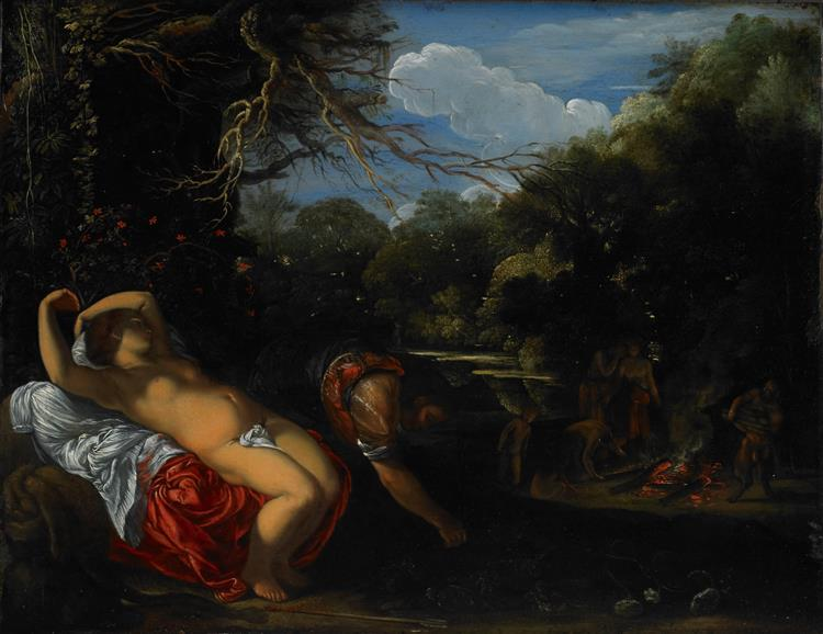 Apollo  and  Coronis, 1606 - 1608 - Адам Ельсгаймер