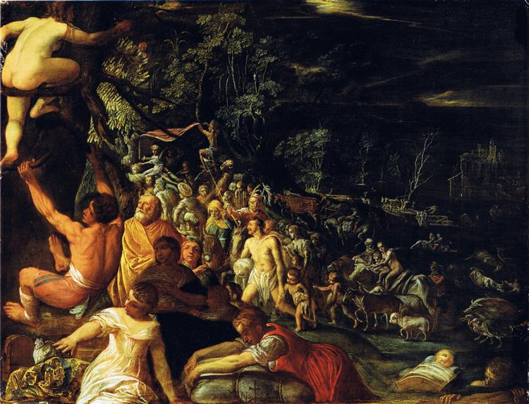 The Great Flood, c.1600 - Адам Эльсхаймер