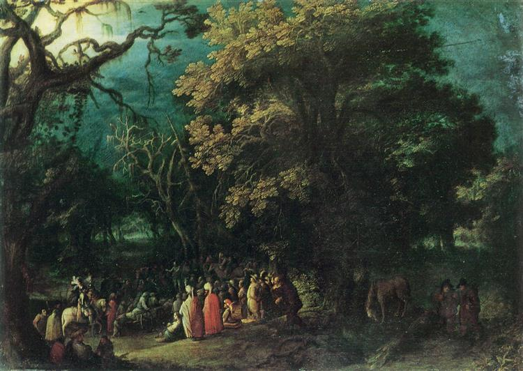The Sermon of John the Baptist - Adam Elsheimer