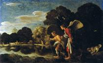 Tobias and the angel - Adam Elsheimer