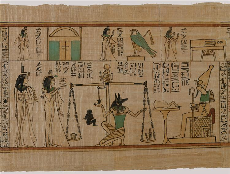 Weighing of the Heart (Book of the Dead for the Singer of Amun, Nany), c.1050 BC - Ancient Egypt
