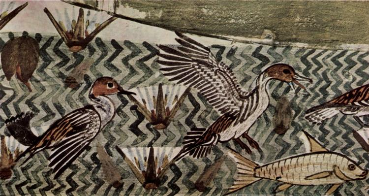 Hunting and Fishing, Wild Ducks, c.1422 - c.1411 BC - Ancient Egypt