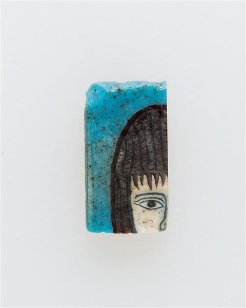 Inlay, Part of Head, c.100 BC - c.100 AD - Ancient Egypt
