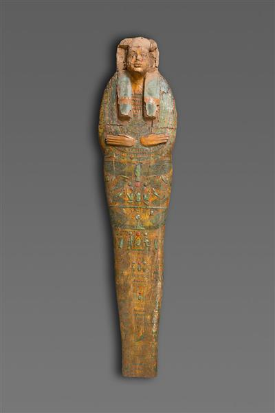 Mummy Board of Gautsoshen, c.1000 - c.945 BC - Ancient Egyptian Painting
