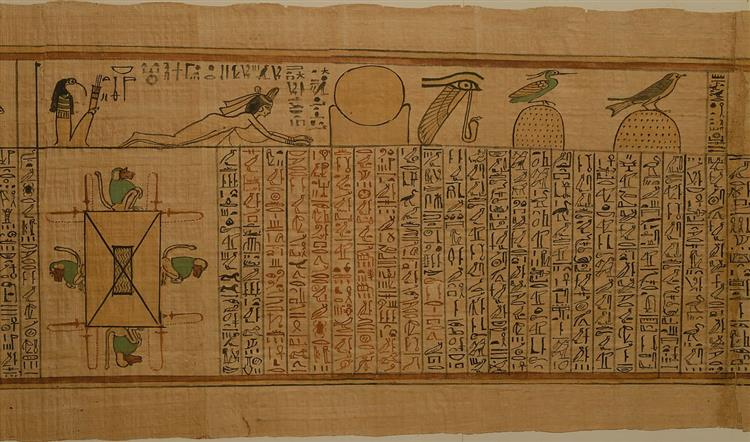Spell 126, 4 Baboons Around Lake of Fire (Book of the Dead for the Singer of Amun, Nany), c.1050 BC - Ancient Egypt