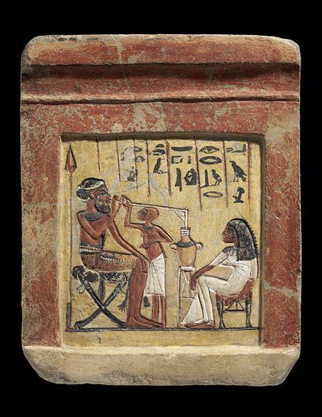 Stele Eines Syrischen Söldners Aus Tell El Amarna, c.1351 - c.1334 BC - Ancient Egypt