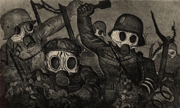 Stormtroops Advancing Under Gas - Otto Dix