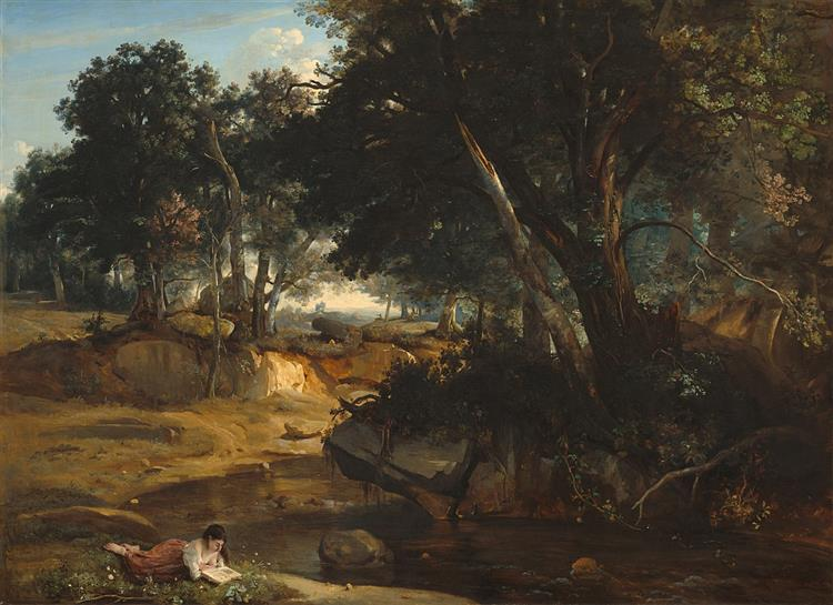 View of the Forest of Fontainebleau, 1830 - Camille Corot