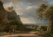 Classical Landscape with Figures and Sculpture - Pierre-Henri de Valenciennes