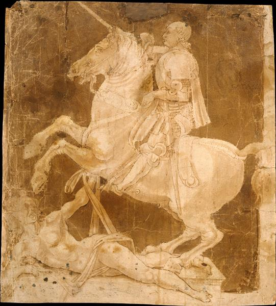 Study for the Equestrian Monument to Francesco Sforza, c.1480 - Antonio del Pollaiolo