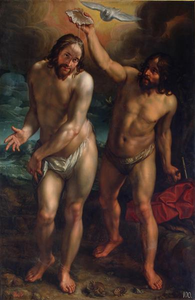 The Baptism of Christ, 1608 - Hendrick Goltzius