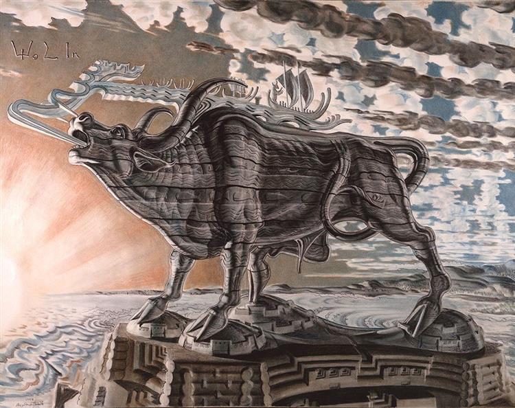 The Lowing Ox for Wolin, 1952 - Stanislaw Szukalski