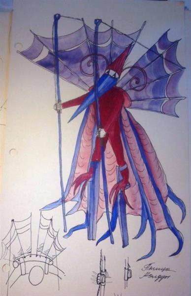Theater Sketch, c.1995 - Valeria Trubina