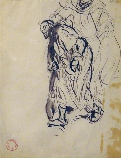 Etude pour le Tableau 'l'arrestation D'un Juif À Tanger', c.1880 - Alfred Dehodencq