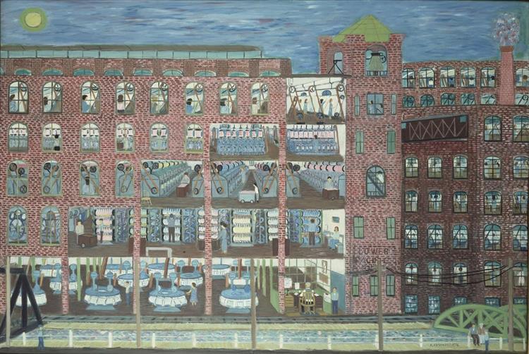 Mill Worker (Night Shift), 1976 - Ralph Fasanella