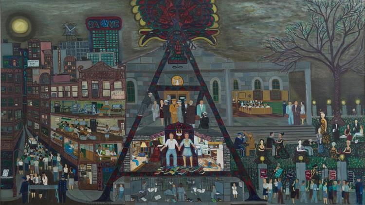 The Rosenberg's: Grey Day, 1963 - Ralph Fasanella