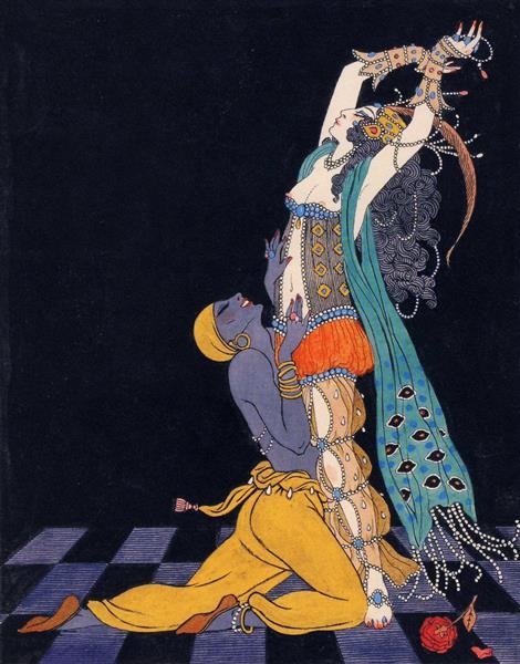 Drawings of dances of Vaslav Nijinsky, 1913 - George Barbier