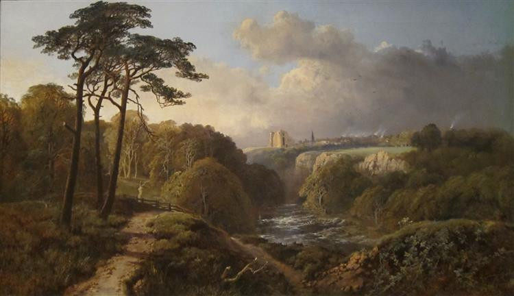 Derbyshire Landscape, 1871 - Alexander Helwig Wyant