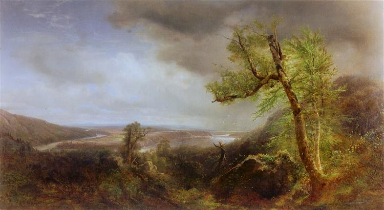 View of South Hadley, 1865 - Alexander Helwig Wyant