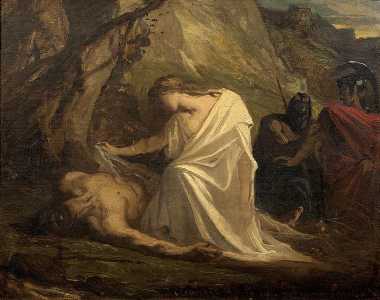 Antigone Au Chevet De Polynice - Jean-Joseph Benjamin-Constant