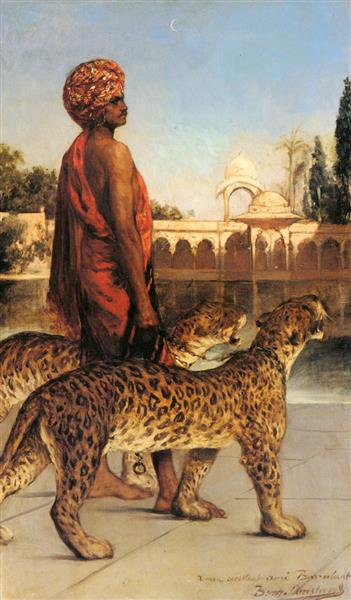 Palace Guard with Two Leopards - Benjamin Constant