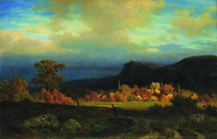 Pejzaż Miejscowości Schulpforte - Carl Gustav Rodde