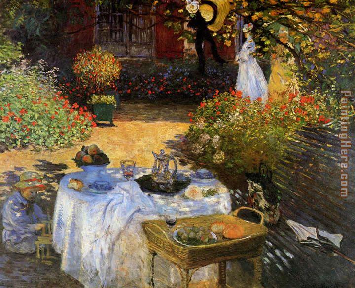 The Lunch: decorative panel, c.1874 - Claude Monet