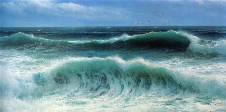 Breaking Waves I, c.1890 - David James