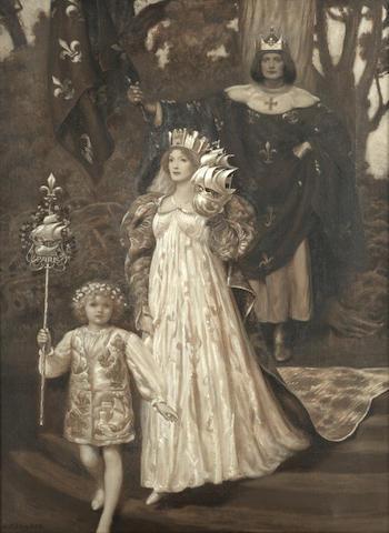 Royal Procession - Edward Robert Hughes