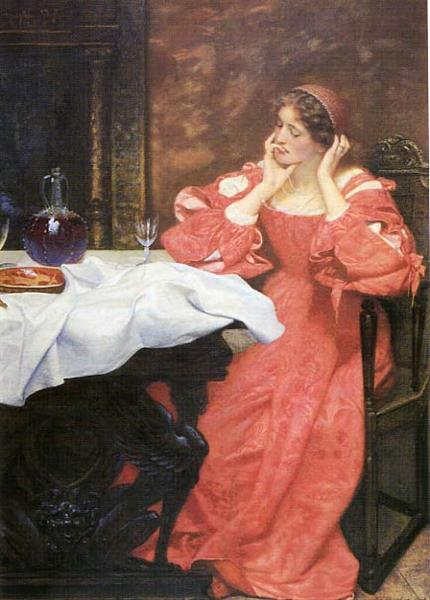 Katherina Contemplates Her Empty Plate in the Taming of the Shrew - Edward Robert Hughes