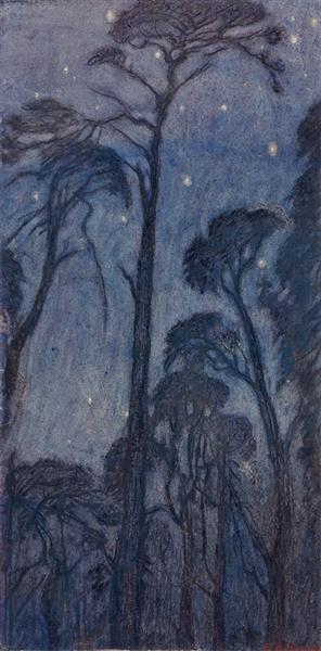 Trees at Twilight - Edward Robert Hughes
