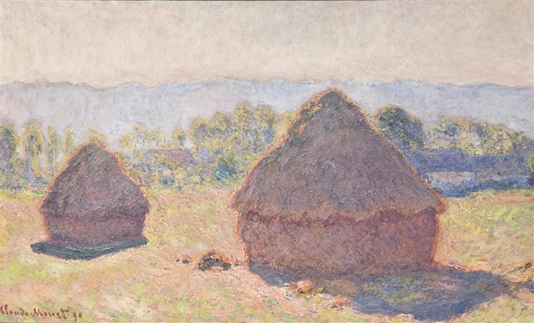 Grainstacks, Bright Sunlight, 1890 - Claude Monet