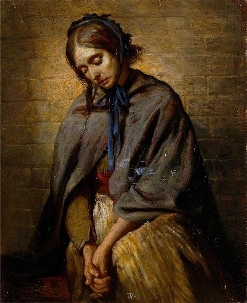 The Widow, 1880 - Frederick George Cotman